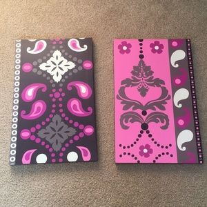 Other - Wall art decor (brown, pink, white, black, purple)